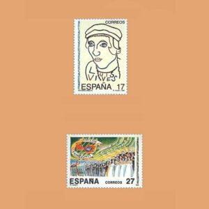 Edifil 3224/5. Serie Efemérides **1992