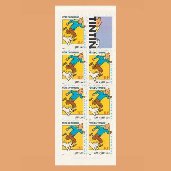 Francia BC3305 Carnet Fiesta del Sello 2000 Tintin y Snowy