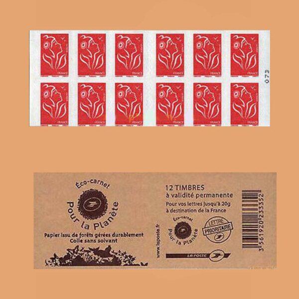 2007 Francia 3744b-C5 Carnet Mariana. Por el planeta