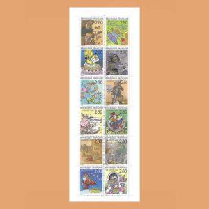 1993 Francia BC2848 Carnet El Placer de Escribir