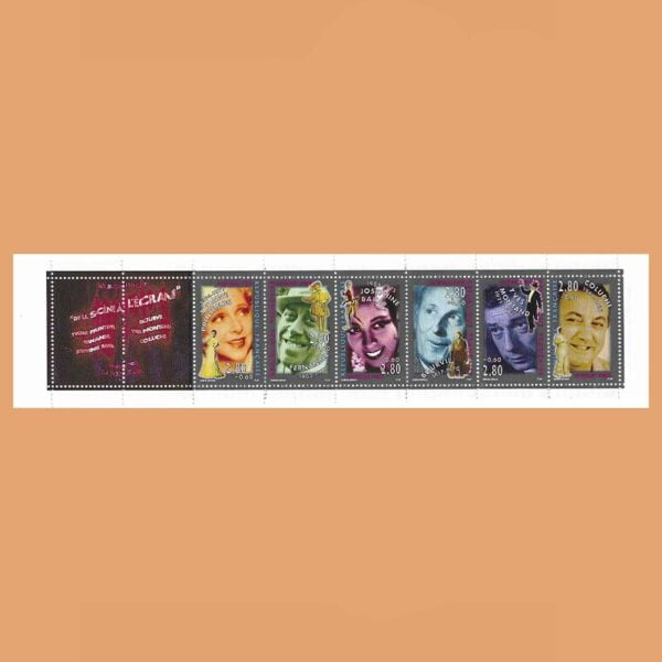 1994 Francia BC2903 Carnet Personajes Célebres