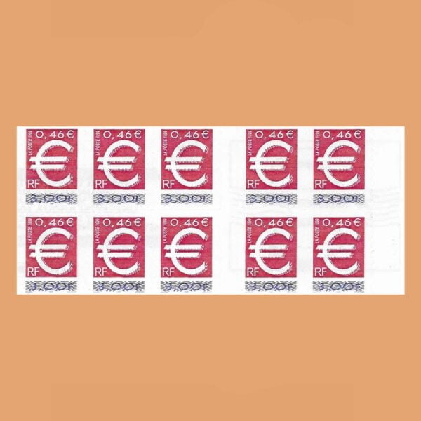 1999 Francia BC3215A Carnet El Sello Euro