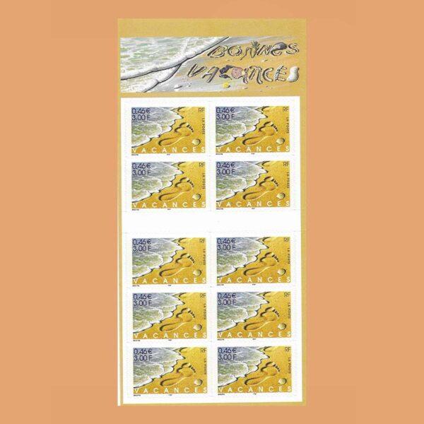 2001 Francia BC3400A Carnet Buenas Vacaciones