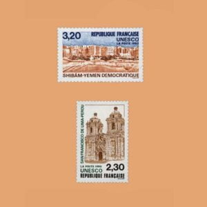1990 Francia Serie 102/3 Service. UNESCO
