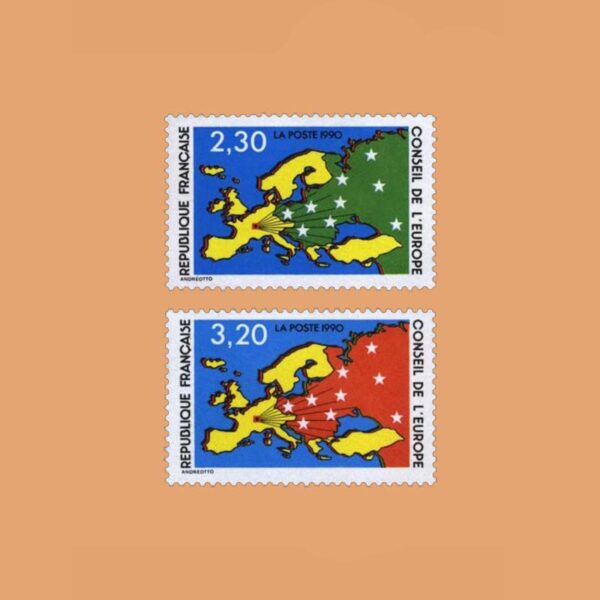 1990 Francia Serie 104/5 Service. Consejo de Europa