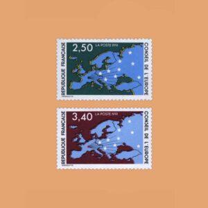 1991 Francia Serie 106/7 Service. Consejo de Europa
