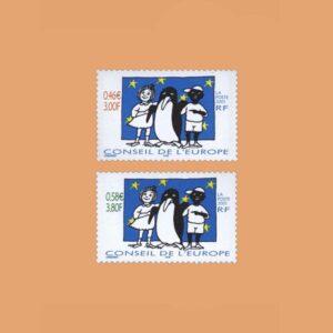 2001 Francia Serie 122/3 Service. Consejo de Europa