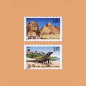 2001 Francia Serie 124/5 Service. UNESCO