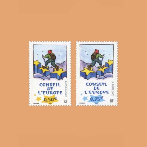 2003 Francia Serie 126/7 Service. Consejo de Europa