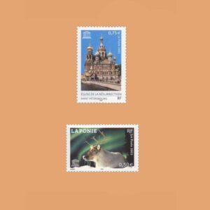 2003 Francia Serie 128/9 Service. UNESCO
