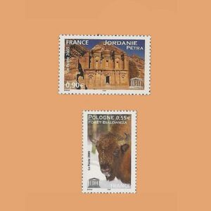 2005 Francia Serie 132/3 Service. UNESCO