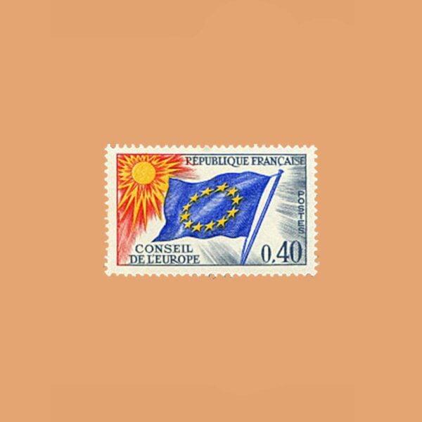 1969 Francia 31 Service. Consejo de Europa. 40cts
