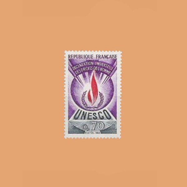 1969 Francia 42 Service. UNESCO Derechos Humanos