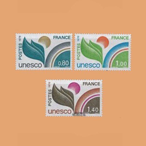 1976 Francia Serie 50/2 Service. UNESCO