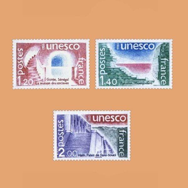1980 Francia Serie 60/2 Service. UNESCO