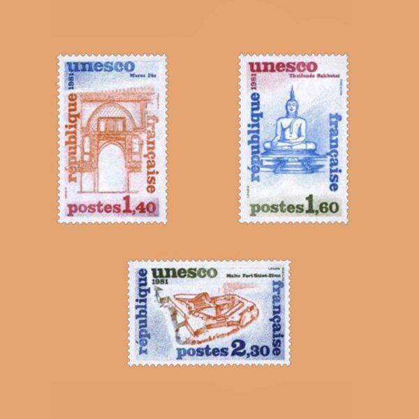 1981 Francia Serie 68/70 Service. UNESCO