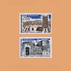 1983 Francia Serie 75/6 Service. UNESCO