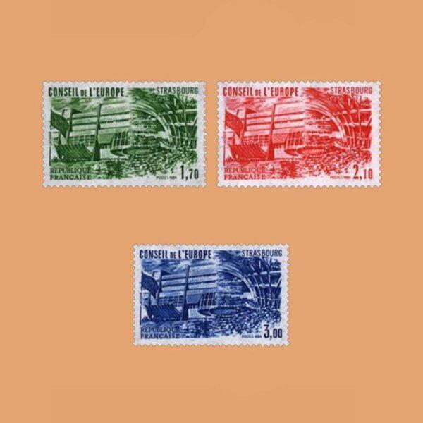 1984 Francia Serie 82/4 Service. Consejo de Europa
