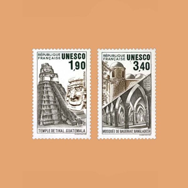 1986 Francia Serie 91/2 Service. UNESCO
