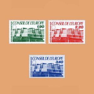 1986 Francia Serie 93/5 Service. Consejo de Europa