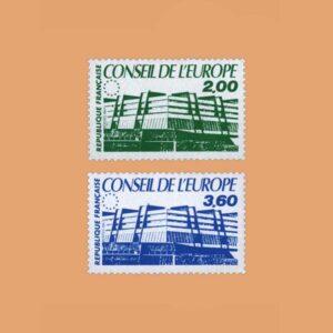 1987 Francia Serie 96/7 Service. Consejo de Europa