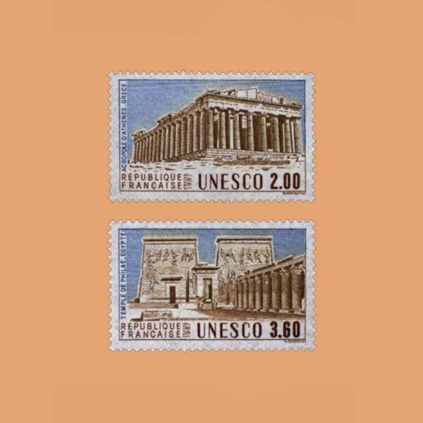 1987 Francia Serie 98/9 Service. UNESCO