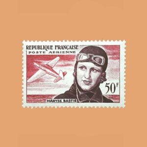 Francia 34 Aéreo. 3 Aniversario de la muerte de Maryse Bastié ** 1955