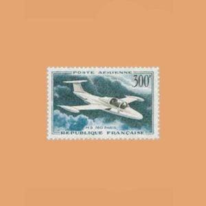 1959 Francia 35 Aéreo. Morane-Saulnier 760 Paris