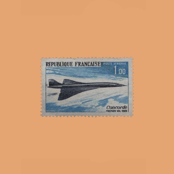 1969 Francia 43 Aéreo. Concorde