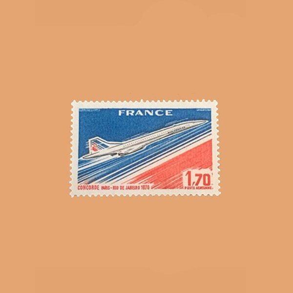 1976 Francia 49 Aéreo. Vuelo Concorde París-Rio de Janeiro