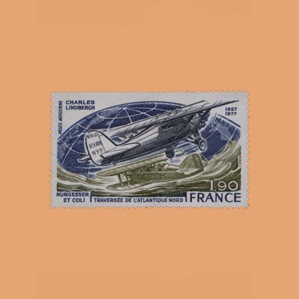1977 Francia 50 Aéreo. Travesía del Atlántico Norte
