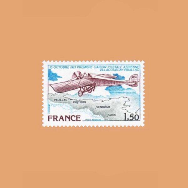 1978 Francia 51 Aéreo. Vuelo Villacoublay y Pauillac