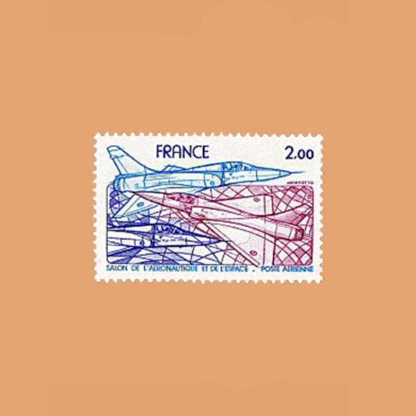 1981 Francia 54 Aéreo. 34° Salón Aeronáutico Internacional de París