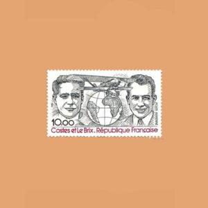 1981 Francia 55 Aéreo. D. Costes y J. Le Brix