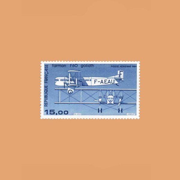 1984 Francia 57 Aéreo. Farman F 60 Goliath