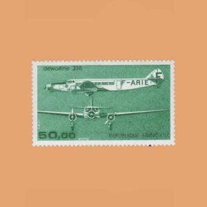 1987 Francia 60 Aéreo. Trimotor Dewoitine 338