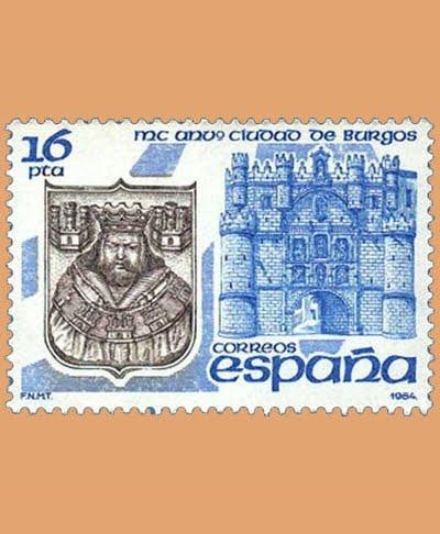 Edifil 2743. MC Aniversario de la Ciudad de Burgos. **1984