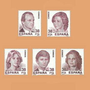 Edifil 2749/53. Serie Exposición Mundial de Filatelia. **1984