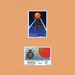 Edifil 2939/40. Serie Exposición Universal de Sevilla, EXPO'92 1988