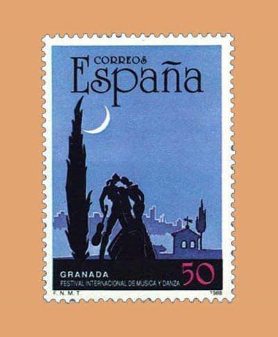 Edifil 2952. XXXVII Festival Internacional de Música y Danza de Granada. Sello de 50 pts. **1988