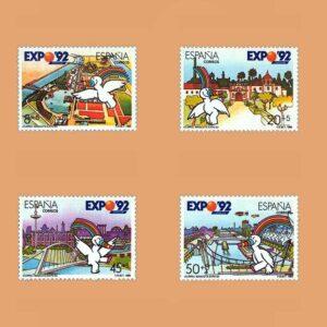 Edifil 3050/3. Expo'92. Exposición Universal de Sevilla **1990