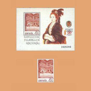 Edifil 3067/8. Exposición fillatélica Nacional. EXFILNA **1990