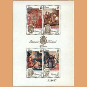 Edifil 3090. Hoja Patrimonio Artístico Nacional. Tapices **1990