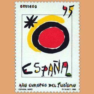 Edifil 3091. Año Europeo del Turismo. Sello de 45 pts. **1990
