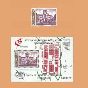 Edifil 3108/9. Granada'92. V Centenario de la Fundación de Santa Fe **1991