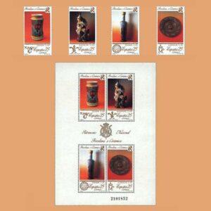 Edifil 3111/5. Patrimonio Artístico Nacional. Porcelana y Cerámica **1991