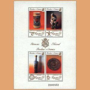 Edifil 3115. Hoja Patrimonio Artístico Nacional. Porcelana y Cerámica **1991