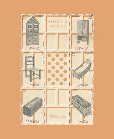 Edifil 3127/32. Hoja Artesanía española. Muebles **1991
