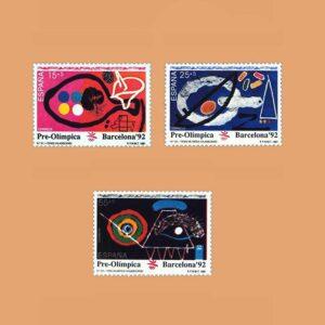 Edifil 3134/6. Barcelona'92. VII Serie Pre-Olímpica **1991