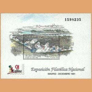 Edifil 3145. Hoja Exposición Filatélica Nacional EXFILNA **1991